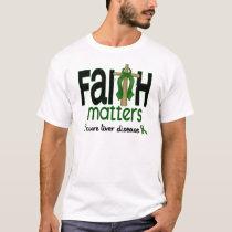 Liver Disease Faith Matters Cross 1 T-Shirt