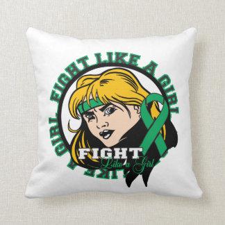 Liver Disease Fight Like A Girl Attitude Pillows