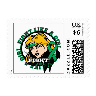Liver Disease Fight Like A Girl Attitude Postage Stamps