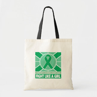 Liver Disease Fight Like A Girl Flag Budget Tote Bag