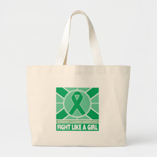 Liver Disease Fight Like A Girl Flag Jumbo Tote Bag