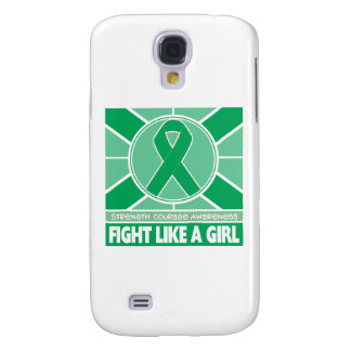 Liver Disease Fight Like A Girl Flag Samsung Galaxy S4 Cover