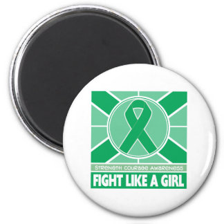 Liver Disease Fight Like A Girl Flag 2 Inch Round Magnet