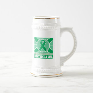 Liver Disease Fight Like A Girl Flag 18 Oz Beer Stein