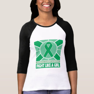 Liver Disease Fight Like A Girl Flag T-shirts