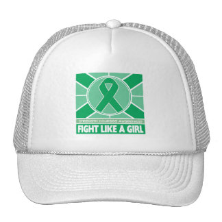 Liver Disease Fight Like A Girl Flag Trucker Hat