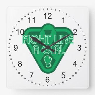 Liver Disease Fight Like A Girl Glove Square Wall Clock