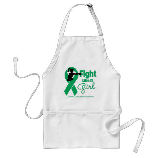 Liver Disease Fight Like A Girl Knock Out Aprons