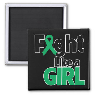 Liver Disease Fight Like a Girl Magnets