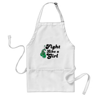 Liver Disease Fight Like A Girl Motto Aprons