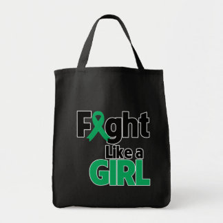 Liver Disease Fight Like a Girl Tote Bag