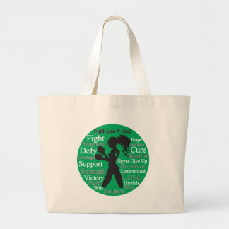 Liver Disease Fight Like A Girl Warrior Collage Tote Bags