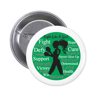 Liver Disease Fight Like A Girl Warrior Collage Button