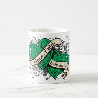 Liver Disease Hope Faith Dual Hearts Classic White Coffee Mug
