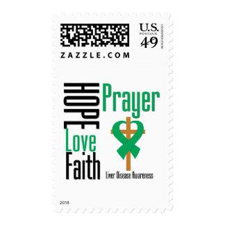 Liver Disease Hope Love Faith Prayer Postage Stamps