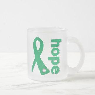 Liver Disease Hope Ribbon 10 Oz Frosted Glass Coffee Mug