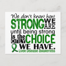 Liver Disease How Strong We Are Postcard