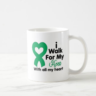 Liver Disease I Walk For My Hero Classic White Coffee Mug