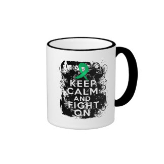 Liver Disease Keep Calm and Fight On Ringer Coffee Mug