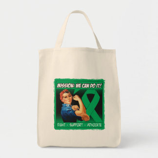 Liver Disease Mission We Can Do It Canvas Bags