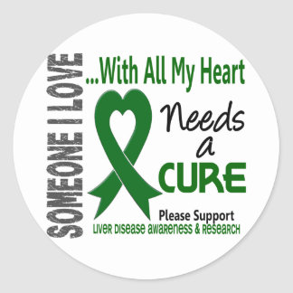 Liver Disease Needs A Cure 3 Classic Round Sticker