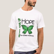 Liver Disease Never Give Up Hope Butterfly 4.1 T-Shirt