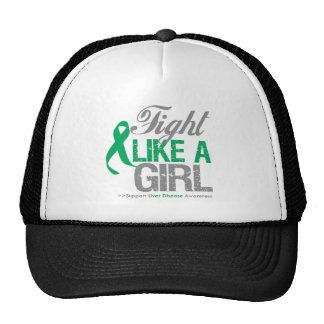 Liver Disease Ribbon - Fight Like a Girl Hat