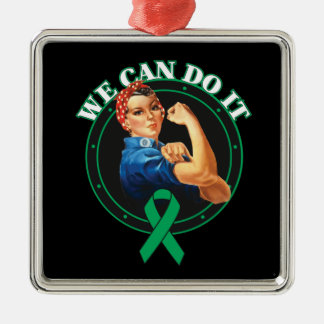 Liver Disease - Rosie The Riveter - We Can Do It Christmas Tree Ornament
