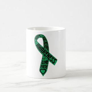 Liver Disease Slogans Ribbon Classic White Coffee Mug