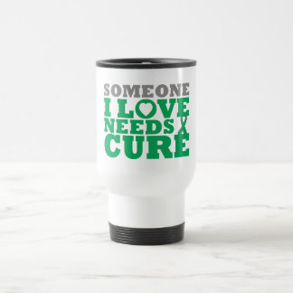 Liver Disease Someone I Love Needs A Cure 15 Oz Stainless Steel Travel Mug