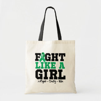Liver Disease Sporty Fight Like a Girl Canvas Bags