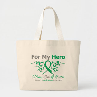 Liver Disease Tribal Ribbon Hero Tote Bag