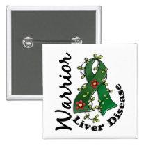Liver Disease Warrior 15 Pinback Button