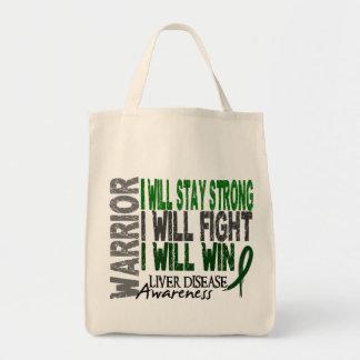 Liver Disease Warrior Canvas Bag