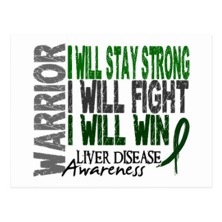 Liver Disease Warrior Postcard