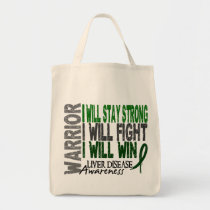 Liver Disease Warrior Tote Bag