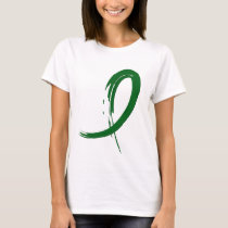 Liver Disease's Emerald Green Ribbon A4 T-Shirt