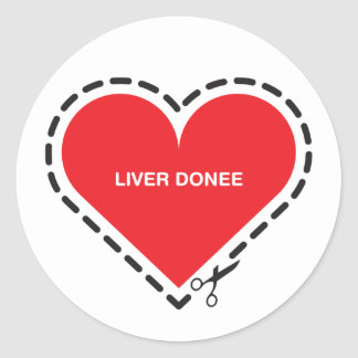 Liver Donee Sticker