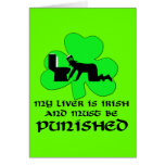 Liver must be punished greeting card