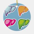 Liver Pop Art Ceramic Ornament