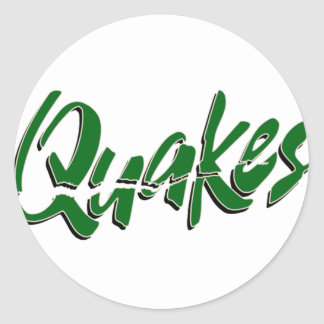 Livermore Quakes Logo Products Classic Round Sticker