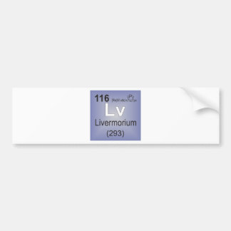 Livermorium Individual Element - Periodic Table Bumper Sticker