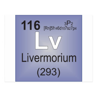 Livermorium Individual Element - Periodic Table Postcard