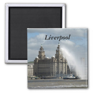 Liverpool 2 Inch Square Magnet