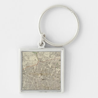 Liverpool 2 Silver-Colored square keychain