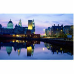 """Liverpool at night, England Cutout<br><div class=""""desc"""">Liverpool at night,  England.   Great Gift for anyone who loves England. British Pride.</div>"""
