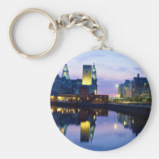 Liverpool at night, England Key Chain