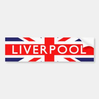 Liverpool: Bandera británica Pegatina Para Auto