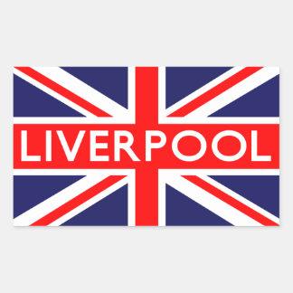 Liverpool: Bandera británica Pegatina Rectangular