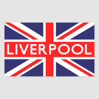 Liverpool : British Flag Rectangular Sticker